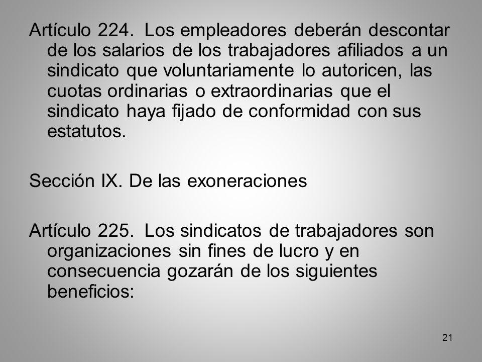 21 Artículo 224.