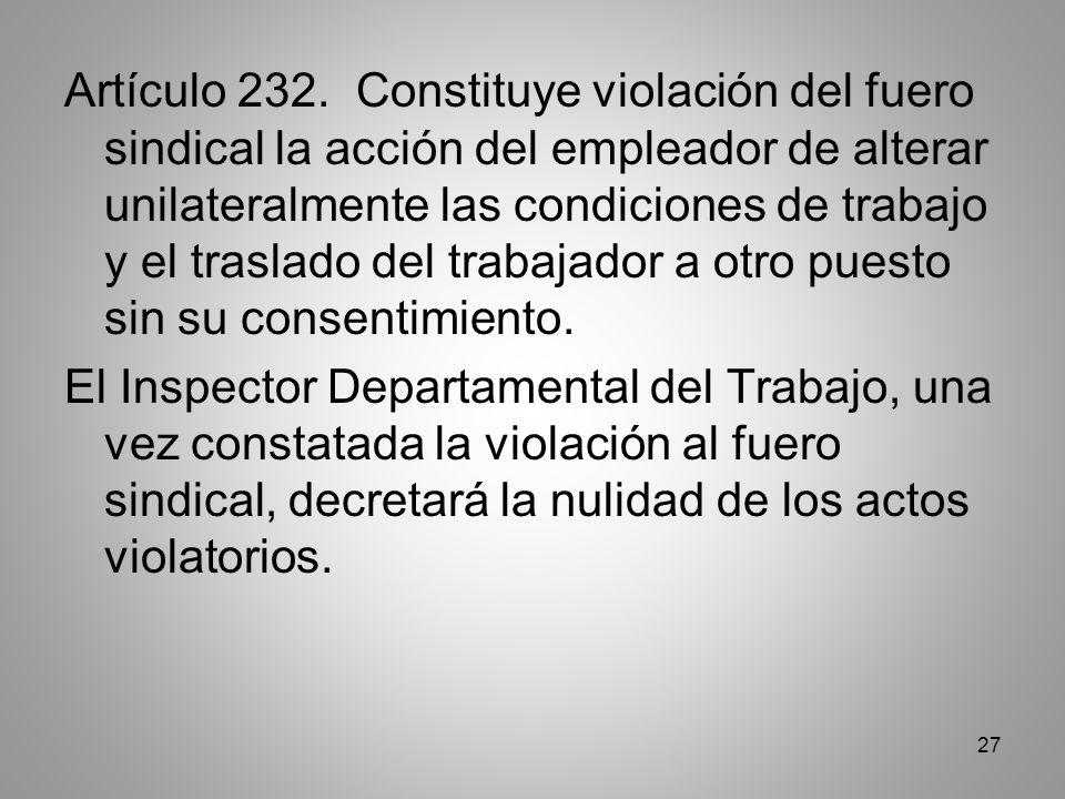 27 Artículo 232.