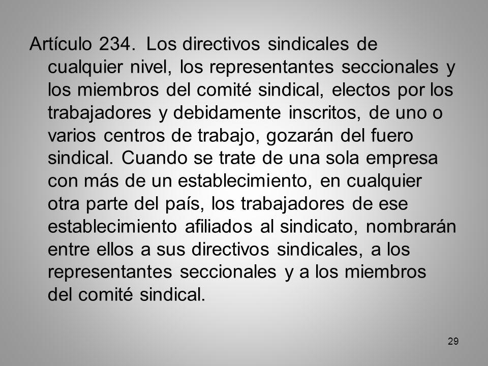 29 Artículo 234.