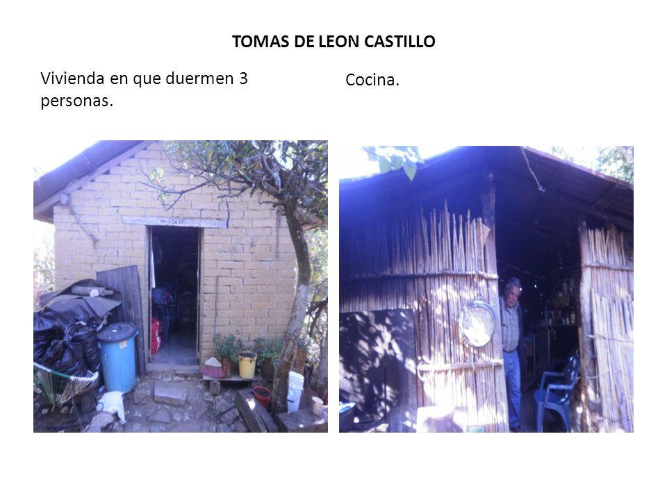 TOMAS DE LEON CASTILLO Vivienda en que duermen 3 personas. Cocina.