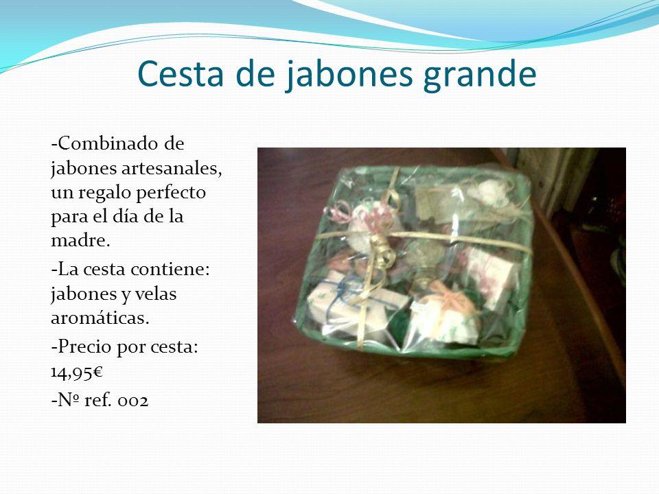 Cesta de jabones grande -Combinado de jabones artesanales, un regalo perfecto para el día de la madre. -La cesta contiene: jabones y velas aromáticas.