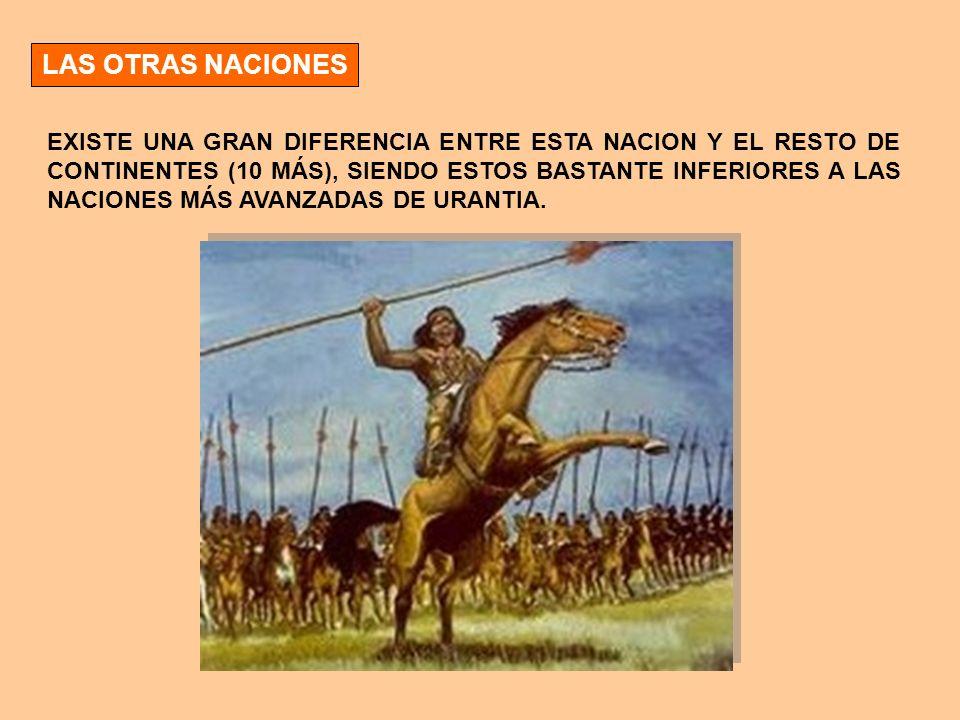 LAS OTRAS NACIONES EXISTE UNA GRAN DIFERENCIA ENTRE ESTA NACION Y EL RESTO DE CONTINENTES (10 MÁS), SIENDO ESTOS BASTANTE INFERIORES A LAS NACIONES MÁ
