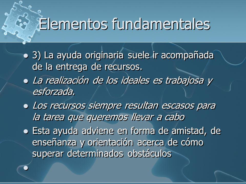 Elementos fundamentales 4) Toda tarea humana encuentra dificultades y conlleva riesgos.