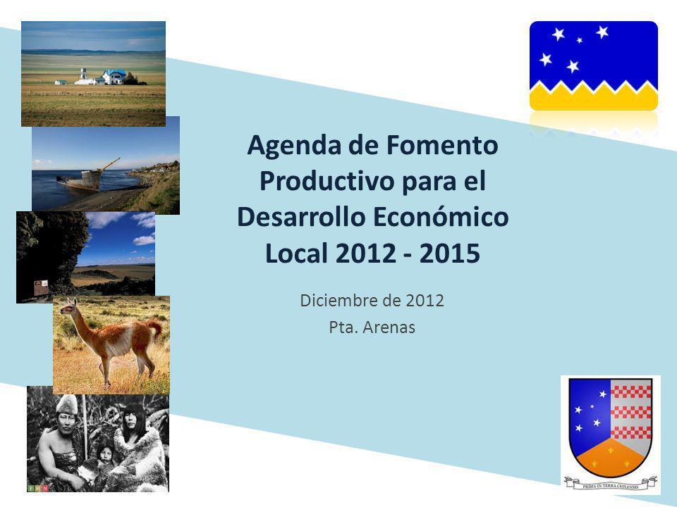 Agenda de Fomento Productivo para el Desarrollo Económico Local 2012 - 2015 Diciembre de 2012 Pta. Arenas