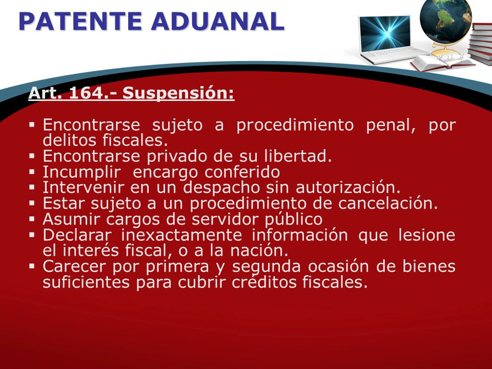 PATENTE ADUANAL Art.