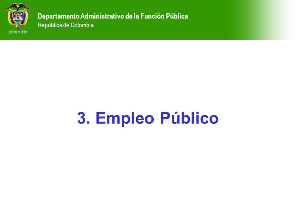 3. Empleo Público Departamento Administrativo de la Función Pública República de Colombia Departamento Administrativo de la Función Pública República