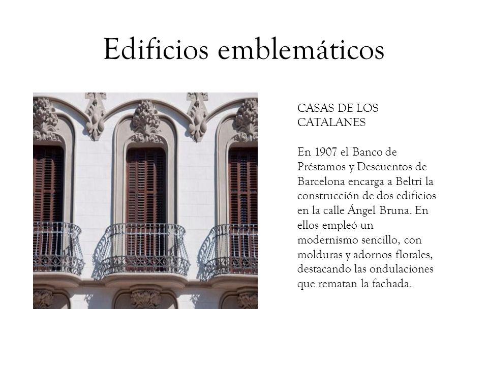 Edificios emblemáticos CASA DORDA En 1908 Víctor Beltrí recibe el encargo de reforma del edificio que la rica familia minera Dorda poseía en la calle del Carmen.