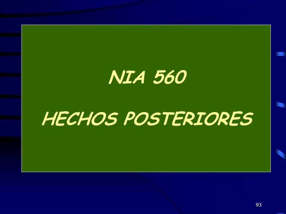 93 NIA 560 HECHOS POSTERIORES