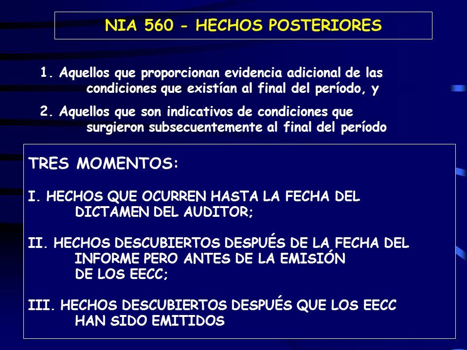 94 NIA 560 - HECHOS POSTERIORES 1.
