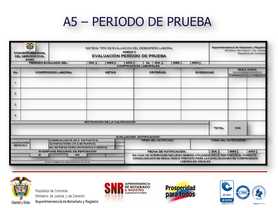 República de Colombia Ministerio de Justicia y del Derecho Superintendencia de Notariado y Registro