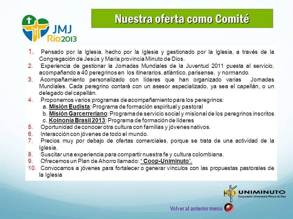 La JMJ 2013 es un encuentro de jóvenes de todo el mundo convocado por el Santo Padre Benedicto XVI Se han realizado 25 ediciones desde 1985.