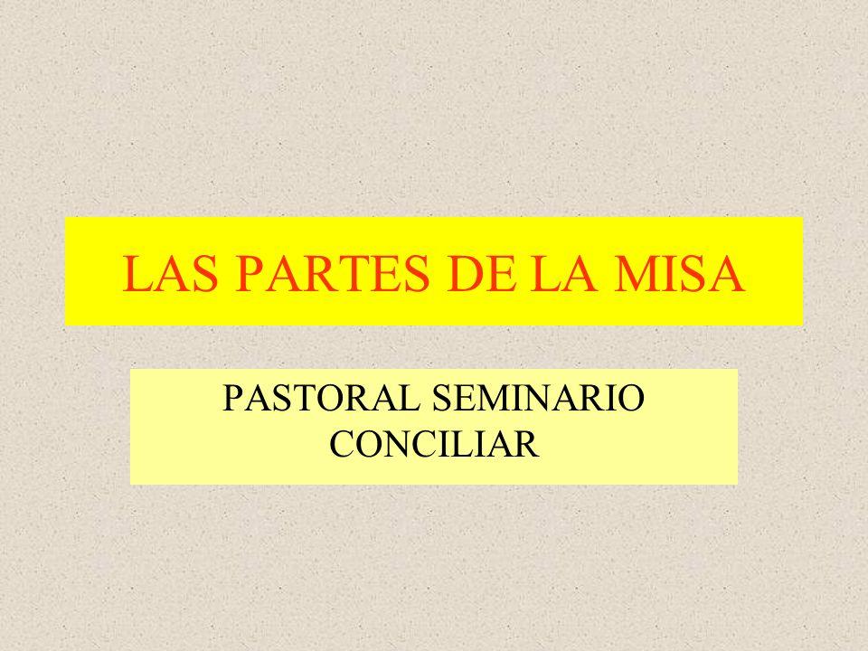 LAS PARTES DE LA MISA PASTORAL SEMINARIO CONCILIAR