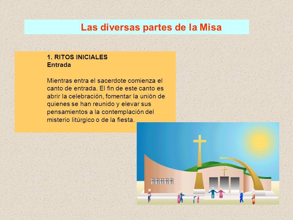 Las diversas partes de la Misa 1.