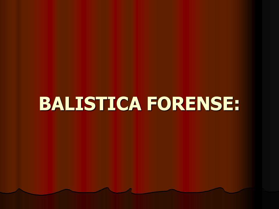 Concepto de Balística: BALÍSTICA: Es la ciencia que estudia el movimiento y comportamiento de los proyectiles.
