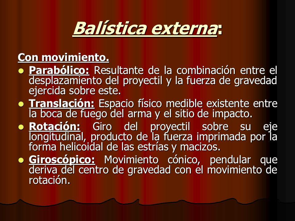 Balística externa: Con movimiento.