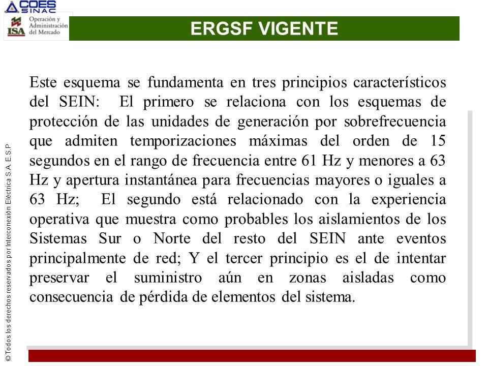 © Todos los derechos reservados por Interconexión Eléctrica S.A. E.S.P ERGSF VIGENTE Este esquema se fundamenta en tres principios característicos del