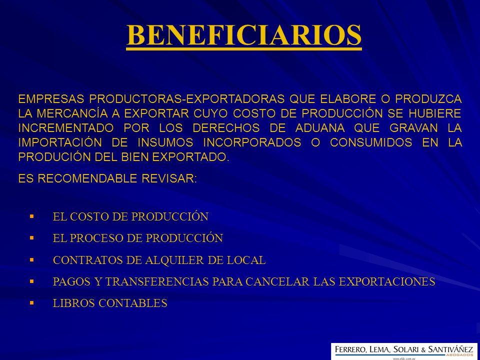 EL COSTO DE PRODUCCIÓN EL PROCESO DE PRODUCCIÓN CONTRATOS DE ALQUILER DE LOCAL PAGOS Y TRANSFERENCIAS PARA CANCELAR LAS EXPORTACIONES LIBROS CONTABLES