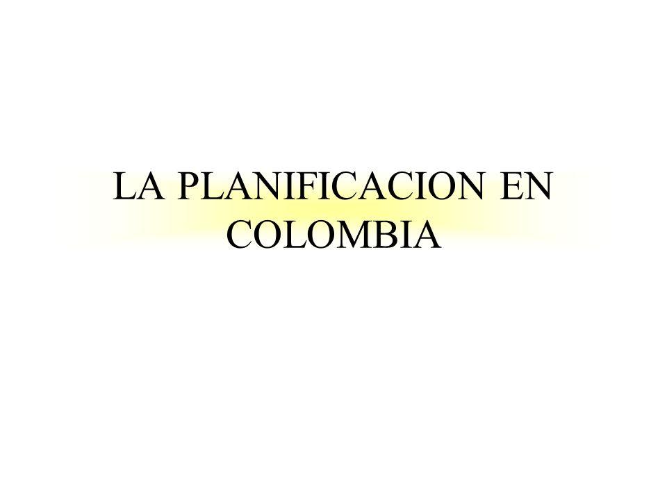 LA PLANIFICACION EN COLOMBIA