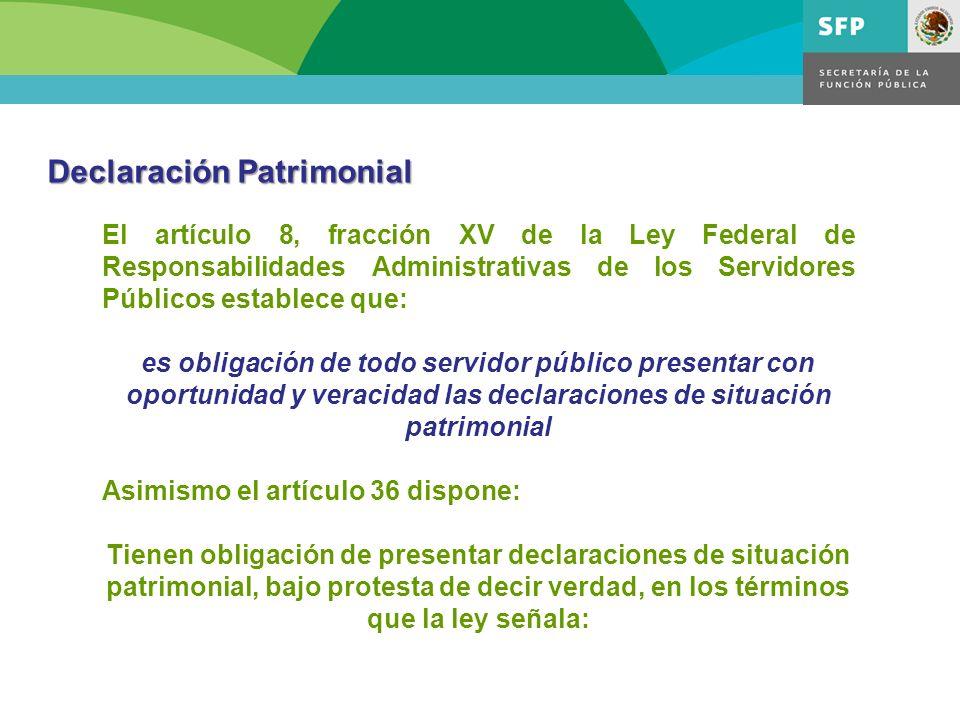 El artículo 8, fracción XV de la Ley Federal de Responsabilidades Administrativas de los Servidores Públicos establece que: es obligación de todo serv
