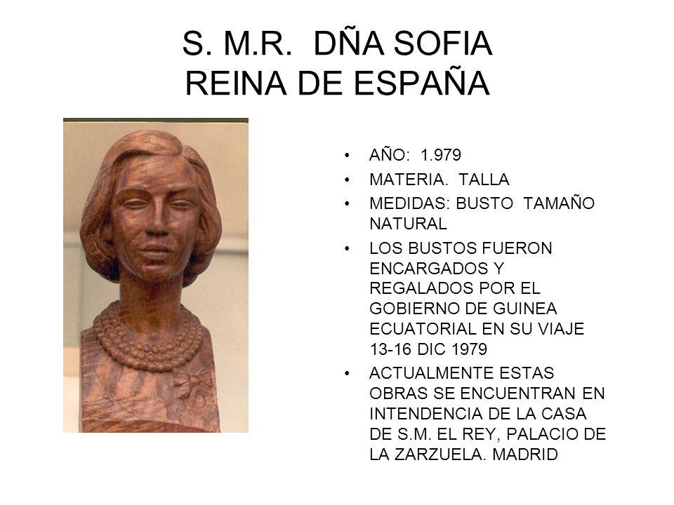 S. M.R. DÑA SOFIA REINA DE ESPAÑA AÑO: 1.979 MATERIA. TALLA MEDIDAS: BUSTO TAMAÑO NATURAL LOS BUSTOS FUERON ENCARGADOS Y REGALADOS POR EL GOBIERNO DE