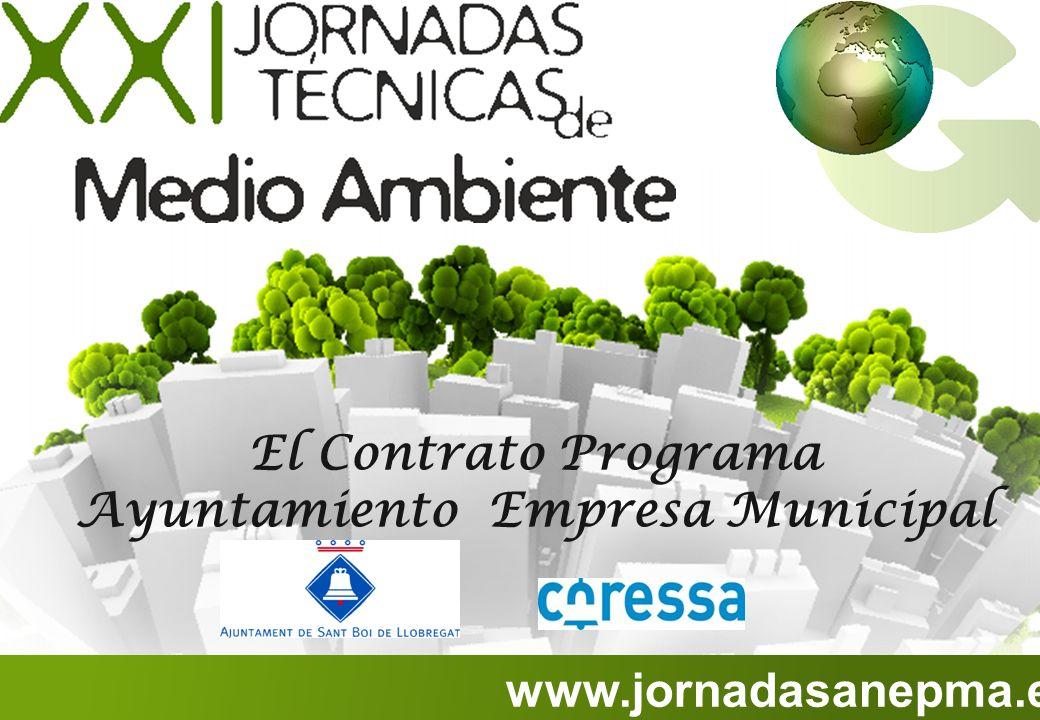 www.jornadasanepma.es El Contrato Programa Ayuntamiento Empresa Municipal
