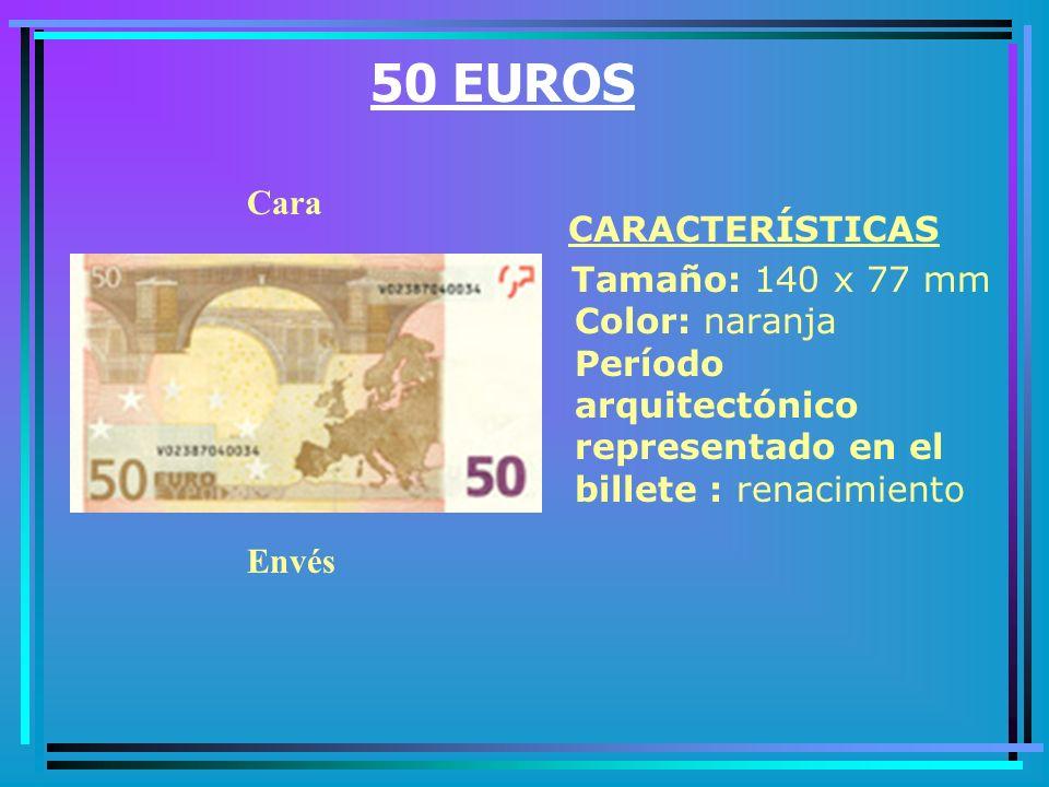 20 EUROS CARACTERÍSTICAS Tamaño: 127 x 67 mm Color: rojo Período arquitectónico representado en el billete : románico Cara Envés