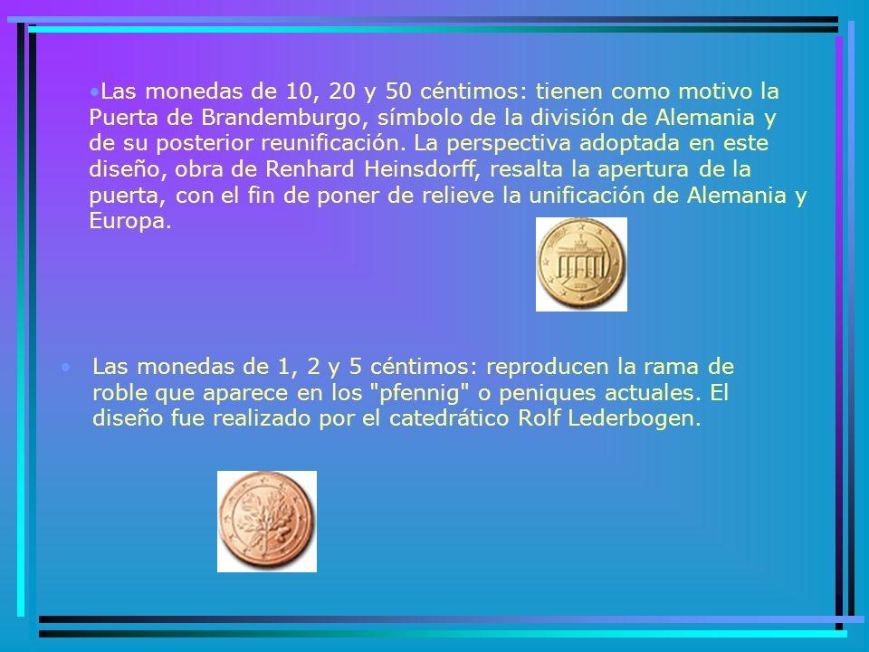 ALEMANIA Una comisión de altos cargos y expertos en numismática de Alemania eligió tres diseños diferentes para la cara nacional de las monedas en euros.