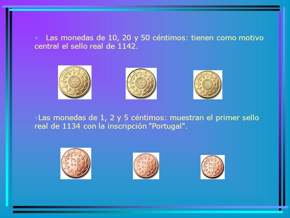 PORTUGAL En este país se escogieron tres diseños diferentes para la cara nacional del euro entre las opciones presentadas en un concurso de ámbito nacional.