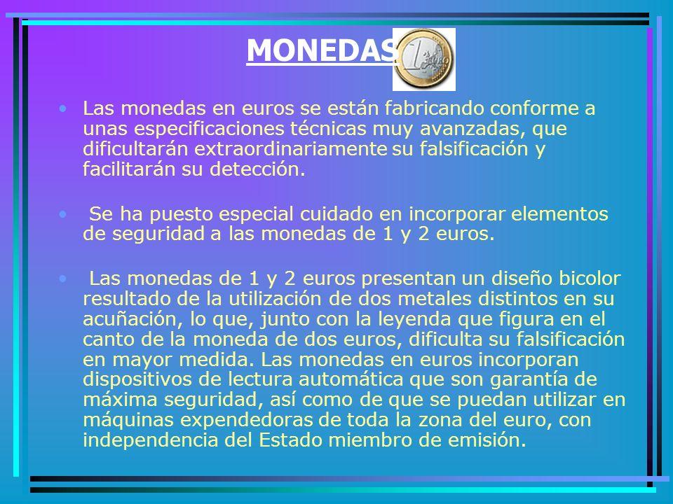 ELEMENTOS DE SEGURIDAD EN MONEDAS Y BILLETES