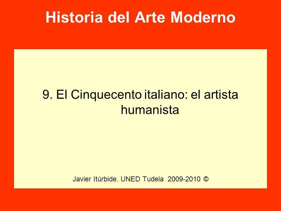 Historia del Arte Moderno 9.El Cinquecento italiano: el artista humanista Javier Itúrbide.