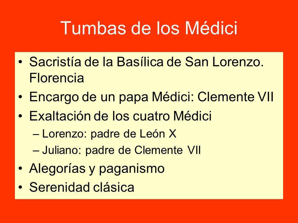 Tumbas de los Médici Sacristía de la Basílica de San Lorenzo.