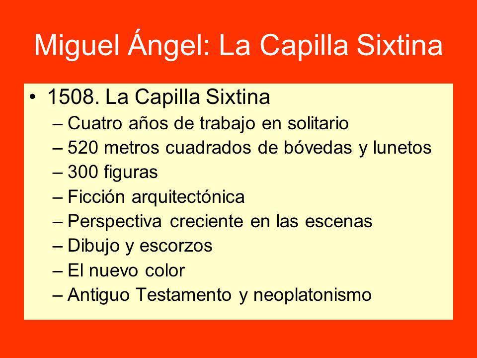 Miguel Ángel: La Capilla Sixtina 1508.
