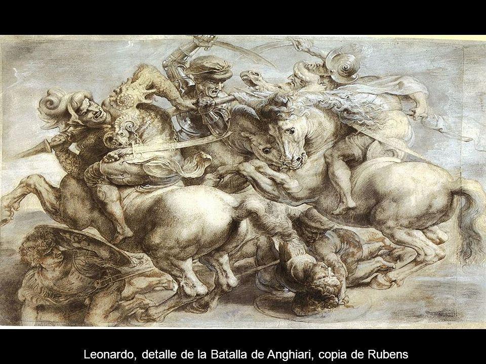 Leonardo, detalle de la Batalla de Anghiari, copia de Rubens