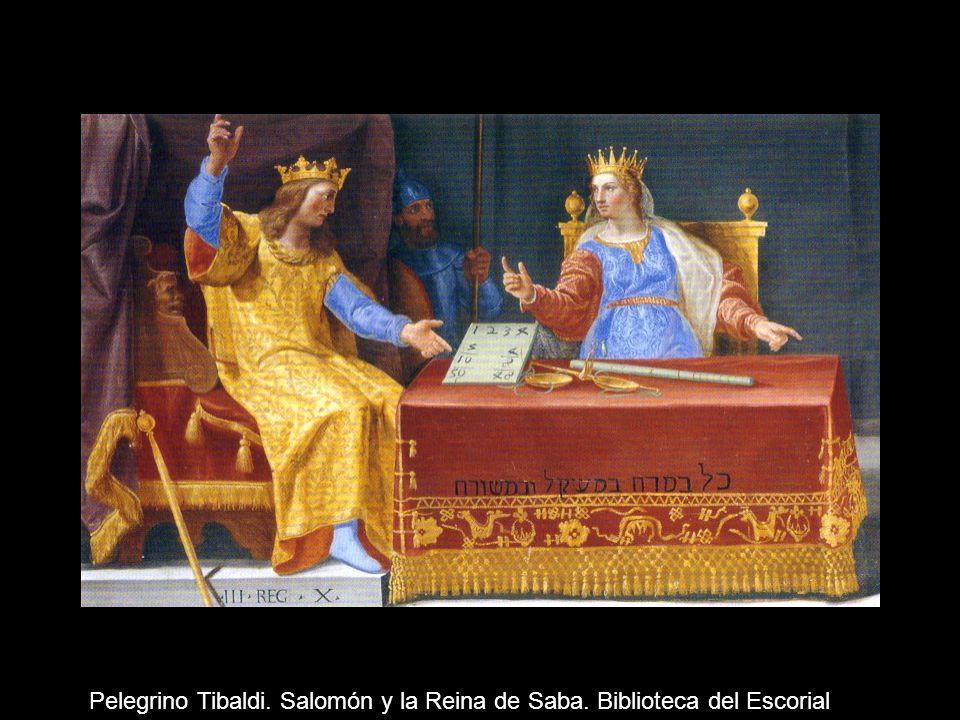 Pelegrino Tibaldi. Salomón y la Reina de Saba. Biblioteca del Escorial