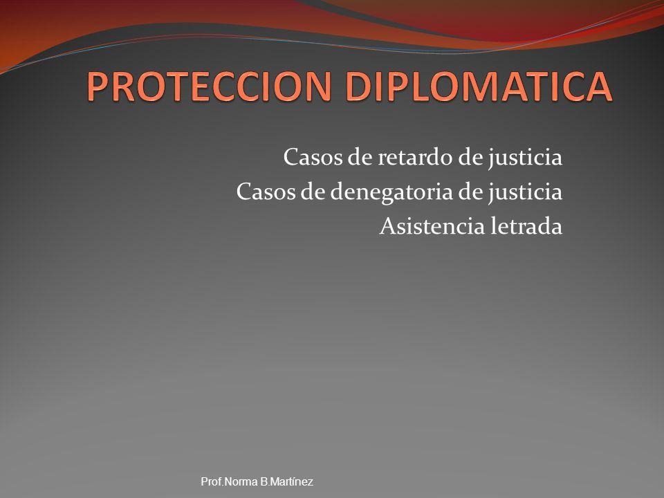 Casos de retardo de justicia Casos de denegatoria de justicia Asistencia letrada Prof.Norma B.Martínez