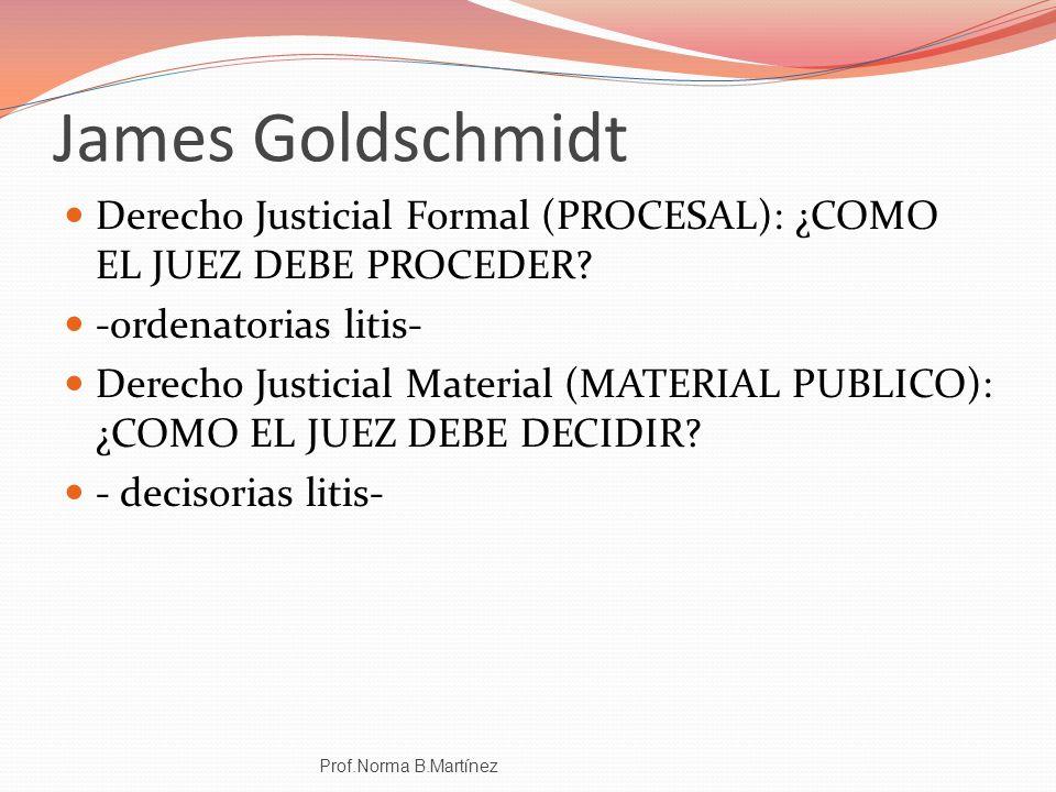 James Goldschmidt Derecho Justicial Formal (PROCESAL): ¿COMO EL JUEZ DEBE PROCEDER? -ordenatorias litis- Derecho Justicial Material (MATERIAL PUBLICO)