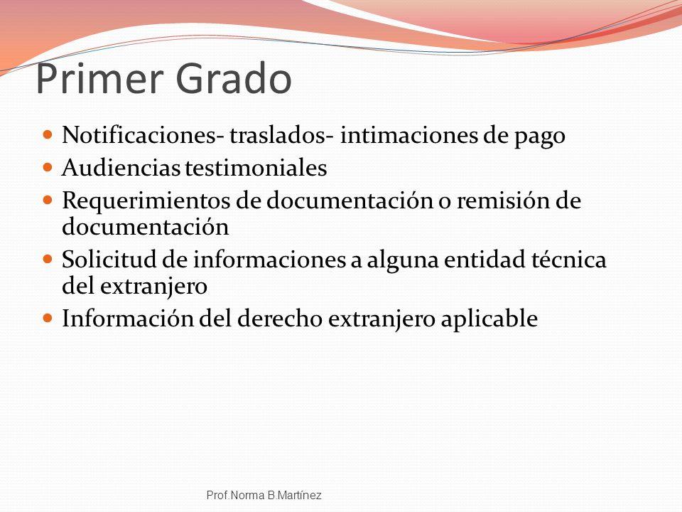 Primer Grado Notificaciones- traslados- intimaciones de pago Audiencias testimoniales Requerimientos de documentación o remisión de documentación Soli