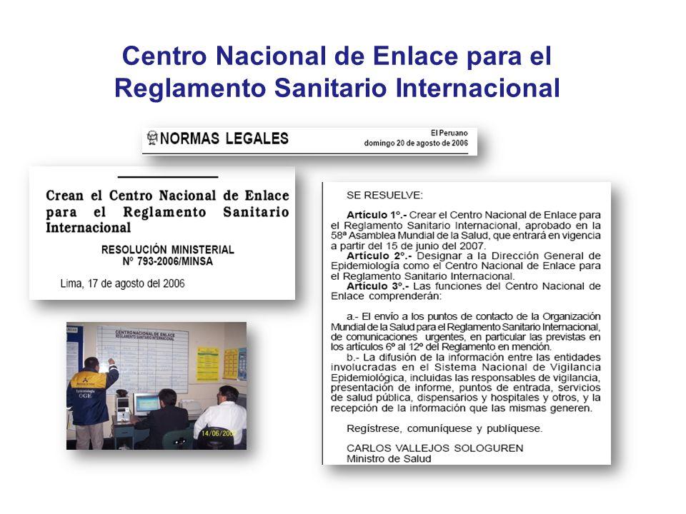 Centro Nacional de Enlace para el Reglamento Sanitario Internacional