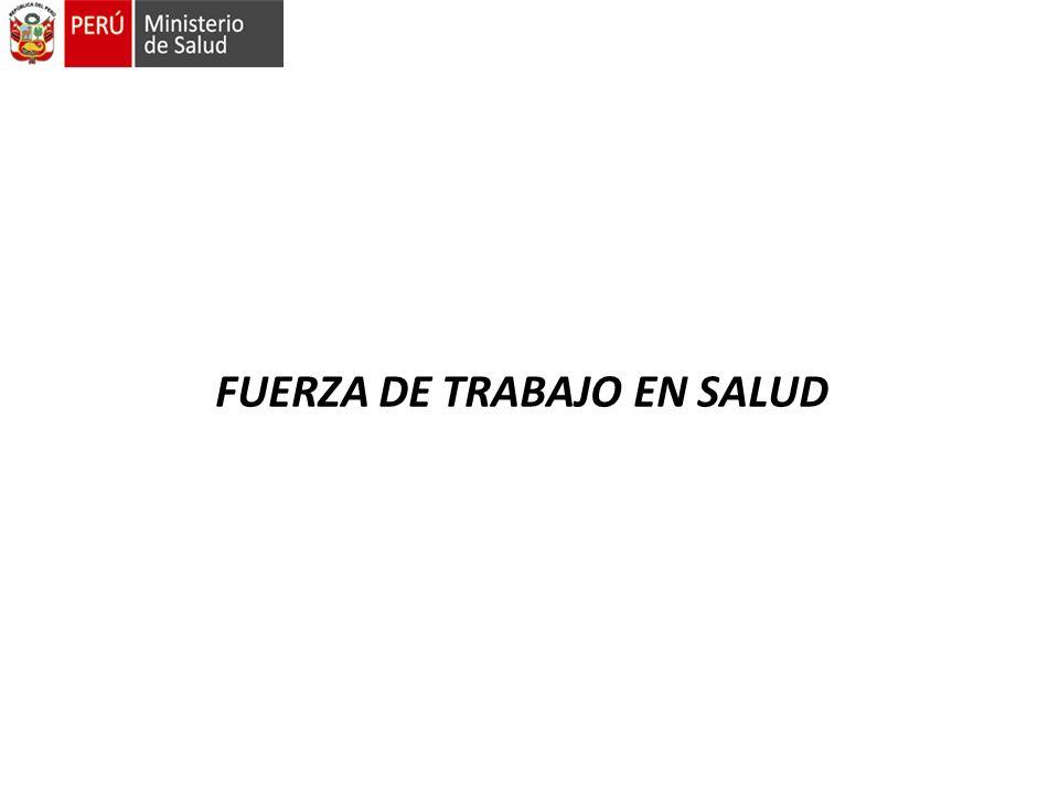 FUERZA DE TRABAJO EN SALUD