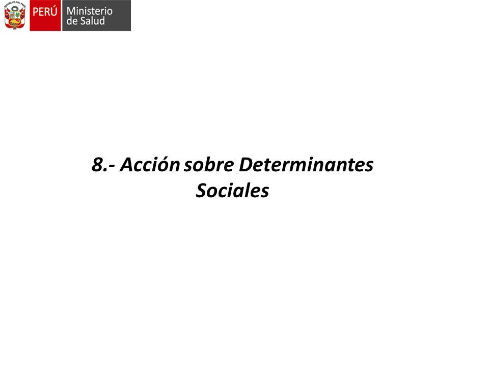 8.- Acción sobre Determinantes Sociales