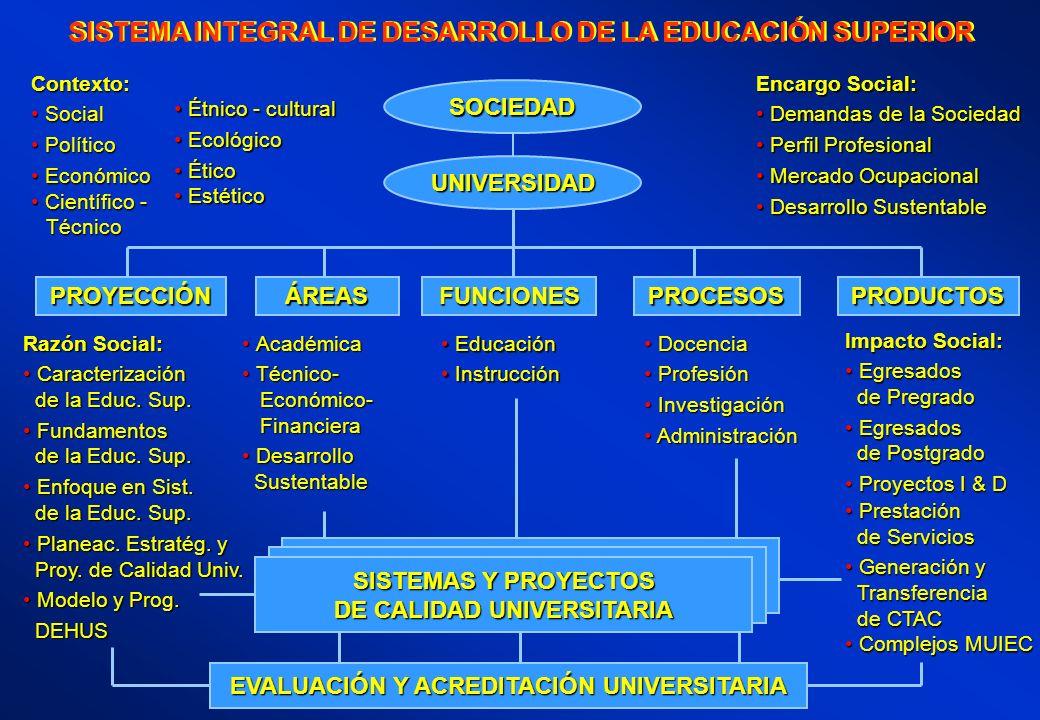 EVALUACIÓN Y ACREDITACIÓN UNIVERSITARIA SISTEMAS Y PROYECTOS DE CALIDAD UNIVERSITARIA UNIVERSIDAD SOCIEDAD Razón Social: Caracterización Caracterizaci