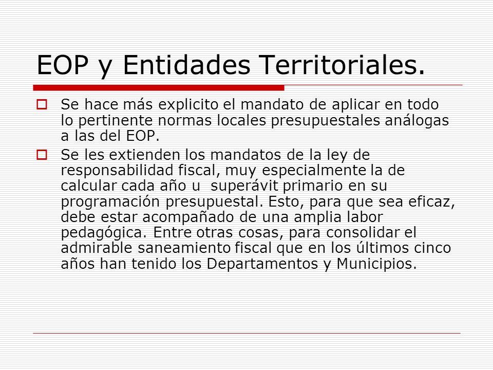 EOP y Entidades Territoriales.