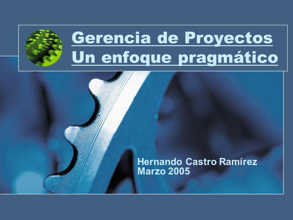Gerencia de Proyectos Un enfoque pragmático Hernando Castro Ramírez Marzo 2005