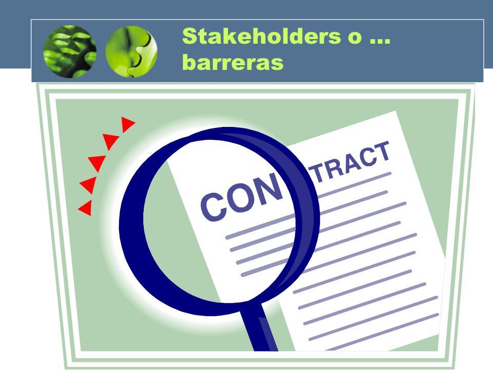 Stakeholders o … barreras