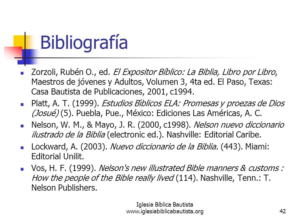 Bibliografía Zorzoli, Rubén O., ed. El Expositor Bíblico: La Biblia, Libro por Libro, Maestros de jóvenes y Adultos, Volumen 3, 4ta ed. El Paso, Texas