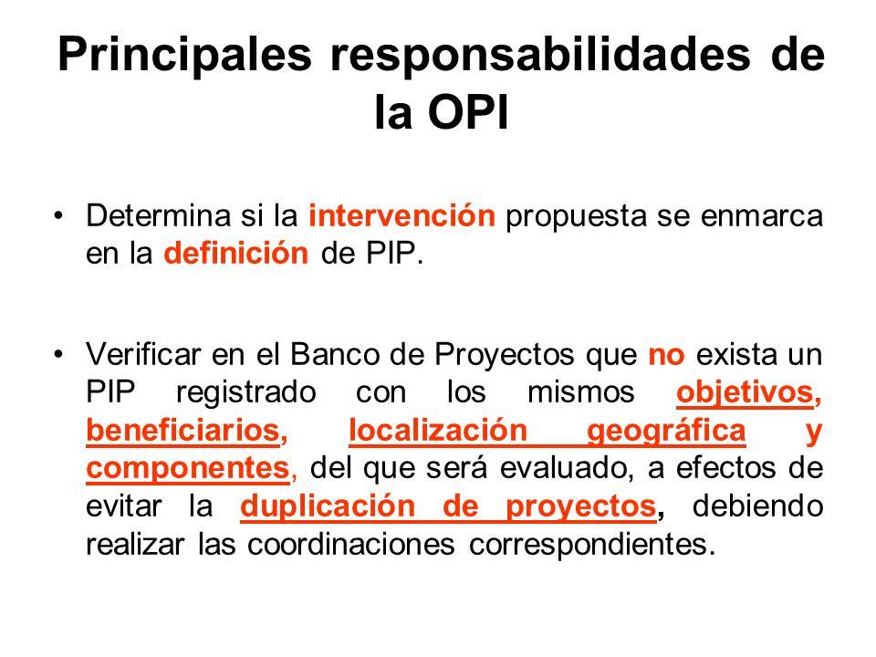 Determina si la intervención propuesta se enmarca en la definición de PIP.