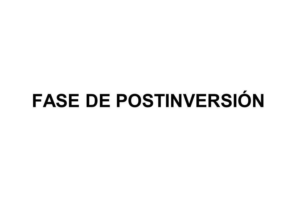 FASE DE POSTINVERSIÓN