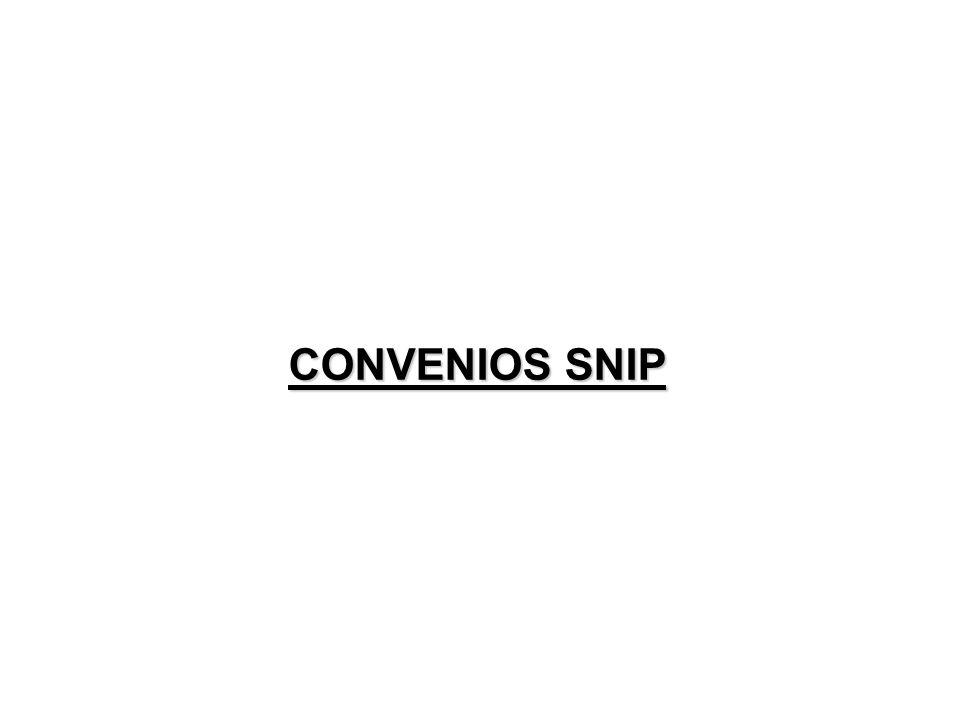 CONVENIOS SNIP