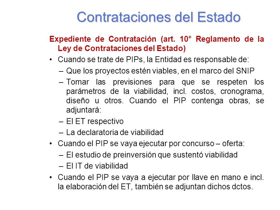 Contrataciones del Estado Expediente de Contratación (art.
