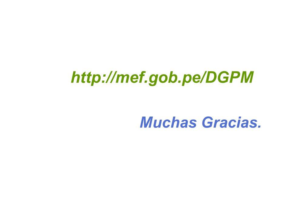 Muchas Gracias. http://mef.gob.pe/DGPM
